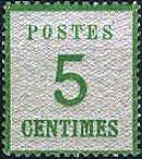 5 Centimes Norddeutscher Postbezirk mit Währung Franc