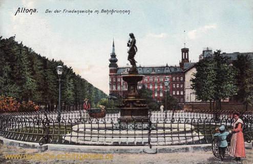 Altona, Bei der Friedenseiche mit Behnbrunnen