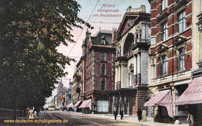 Altona, Königstraße mit Stadttheater