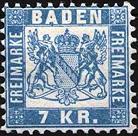 Großherzogtum Baden, 7 Kreuzer bis 1871