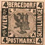 Bergedorf Postmarke, 4 Schillinge