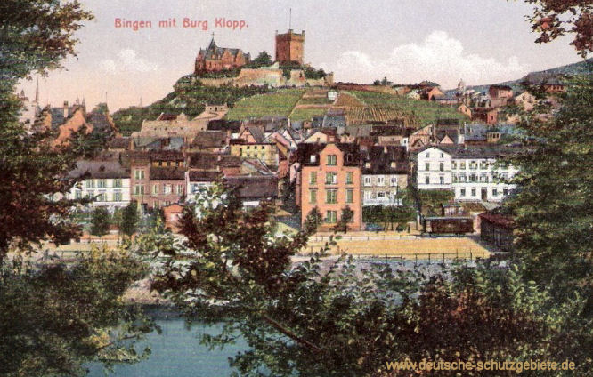 Bingen mit Burg Klopp