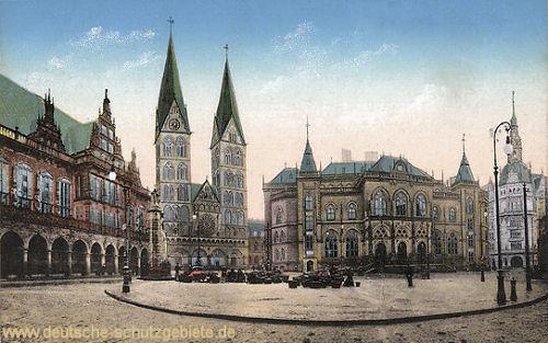 Bremen, Rathaus, Dom, Börse und Baumwollbörse