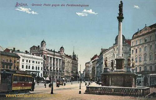 Brünn, Großer Platz gegen die Ferdinandsgasse