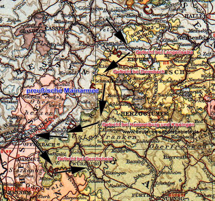 Deutscher Krieg in Mittel- und Süddeutschland