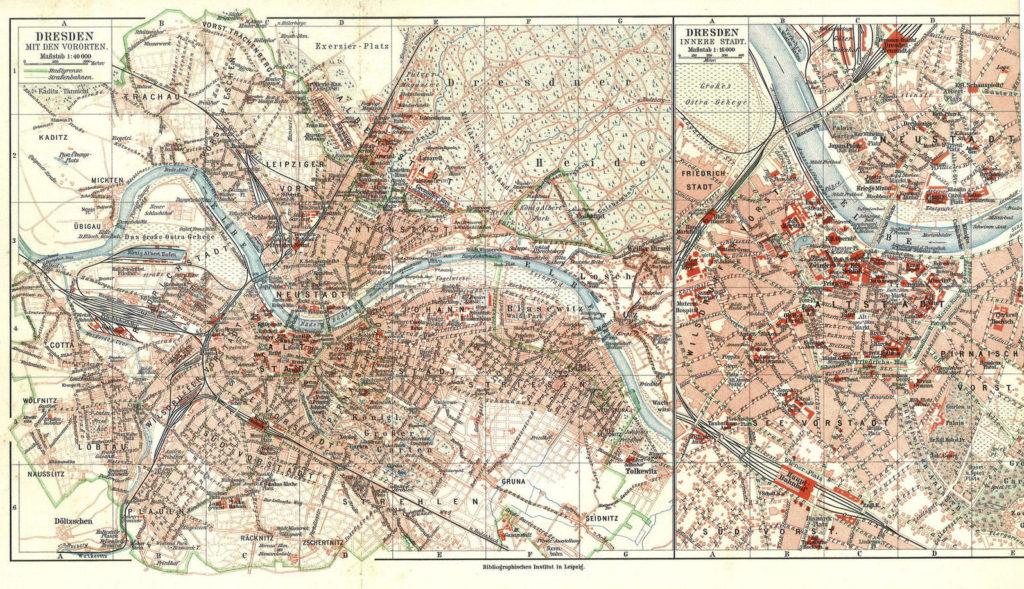 Dresden, Stadtplan 1908