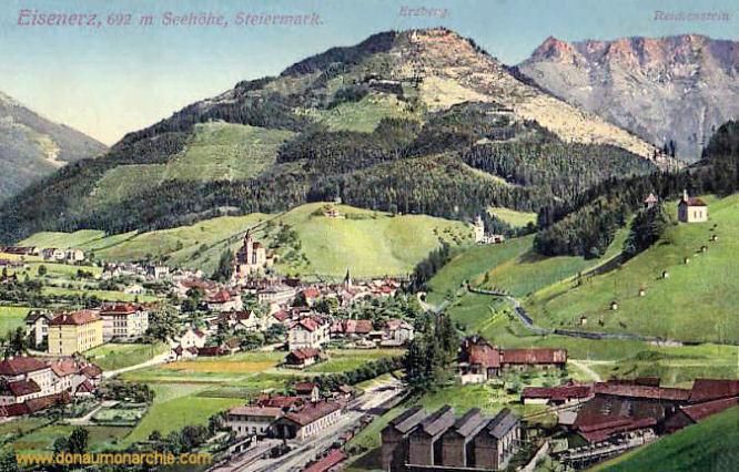 Eisenerz, 692 m Seehöhe, Steiermark - Erzberg - Reichenstein