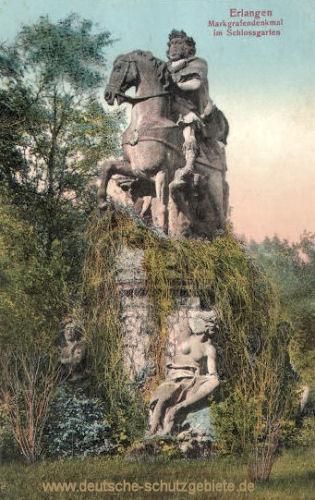 Erlangen, Markgrafendenkmal im Schlossgarten