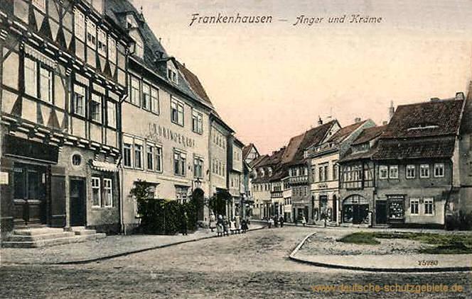 Frankenhausen, Anger und Kräme