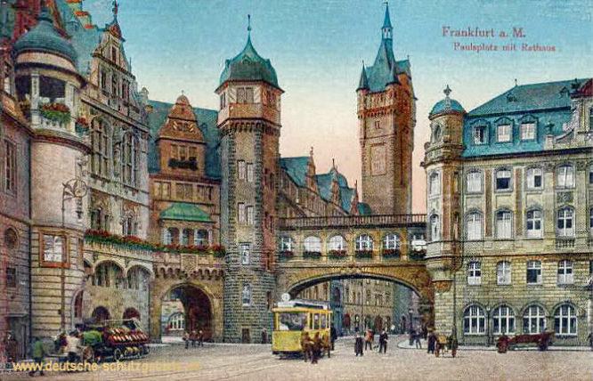 Frankfurt a. M., Paulsplatz mit Rathaus