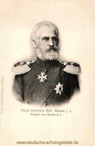 Fürst Heinrich XIV. Reuss j.L., Regent von Reuss ä.L.