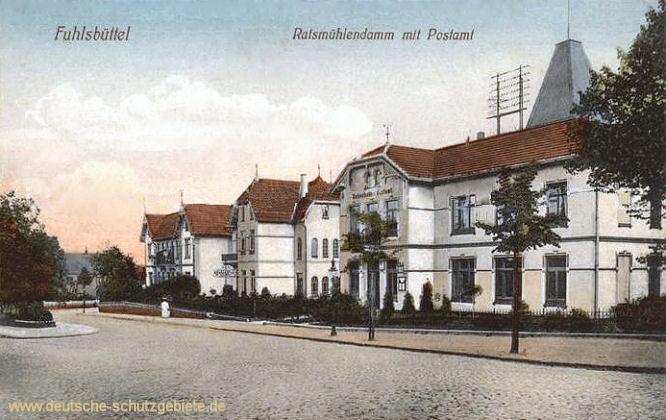 Fuhlsbüttel, Ratsmühlendamm mit Postamt