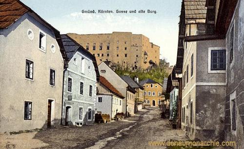 Gmünd in Kärnten, Gasse und alte Burg