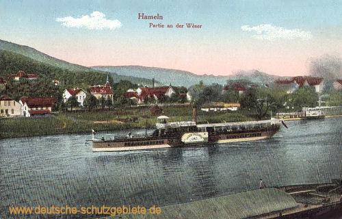 Hameln, Partie an der Weser