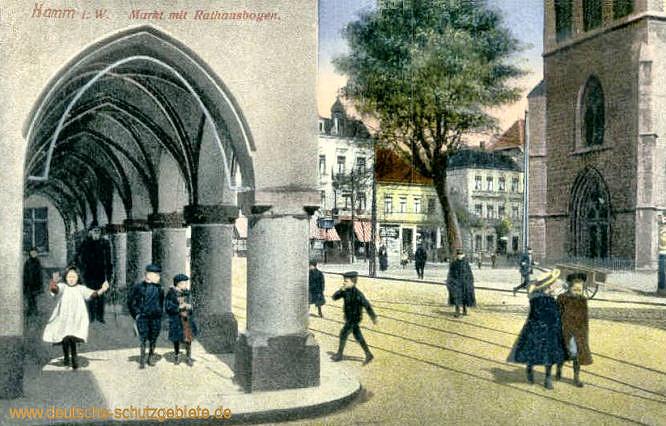 Hamm i. W., Markt mit Rathausbogen