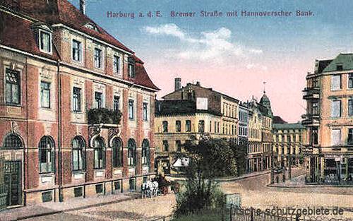 Harburg, Bremer Straße mit Hannoverscher Bank