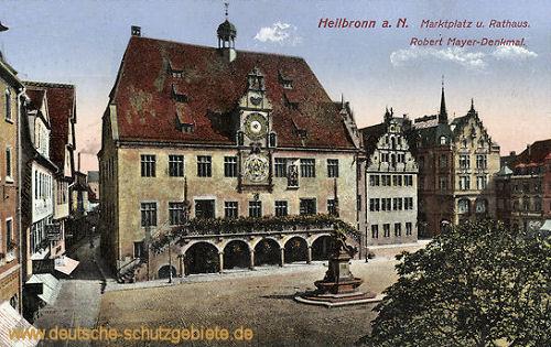 Heilbronn a. N., Marktplatz und Rathaus