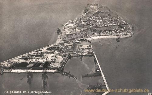 Helgoland mit Kriegshafen
