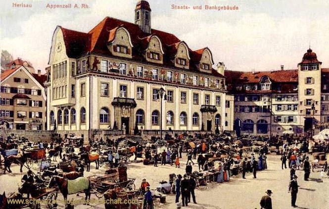 Herisau, Staats- und Bankgebäude