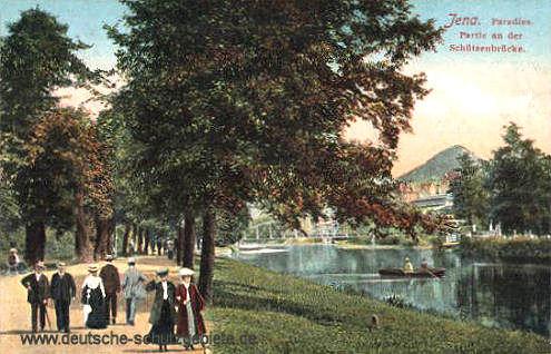 Jena, Paradies, Partie an der Schützenbrücke