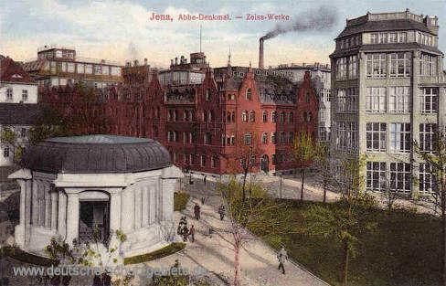 Jena, Abbe-Denkmal - Zeiss-Werke