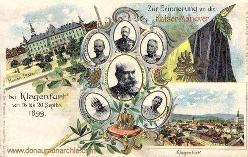 Klagenfurt, Zur Erinnerung an die Kaisermanöver bei Klagenfurt vom 16. bis 20. Sep. 1899