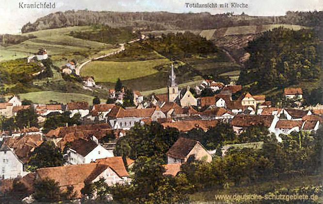 Kranichfeld, Totalansicht mit Kirche