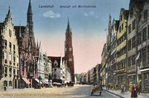 Landshut, Altstadt mit Martinskirche