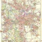 Leipzig, Stadtplan mit Vororten 1910