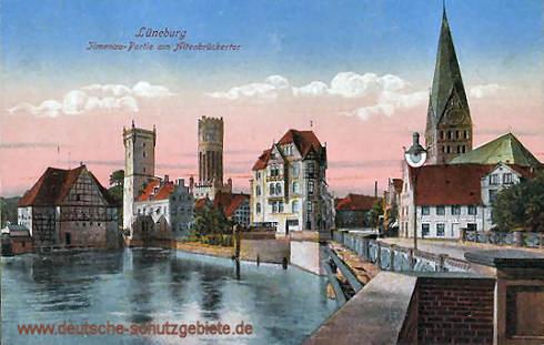 Lüneburg, Ilmenau-Partie am Altenbrückertor