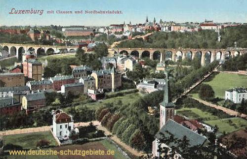 Luxemburg mit Clausen und Nordbahnviadukt