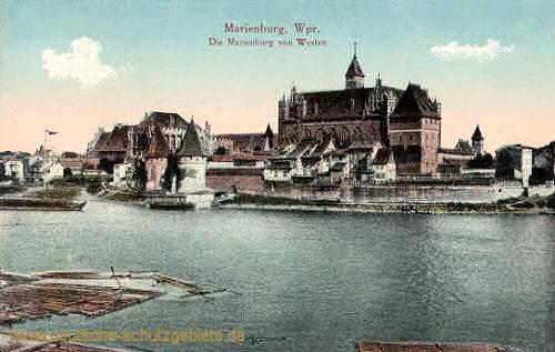 Marienburg, Wpr., Die Marienburg von Westen