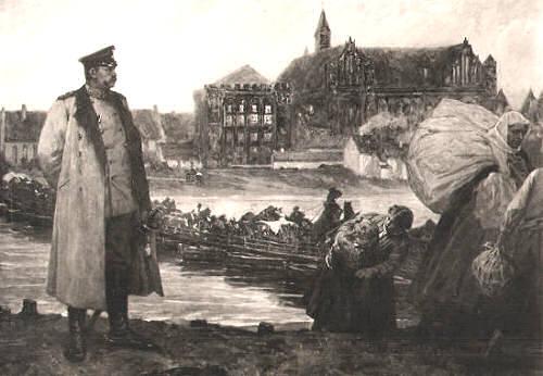 Hindenburg vor der Marienburg am 23. August 1914