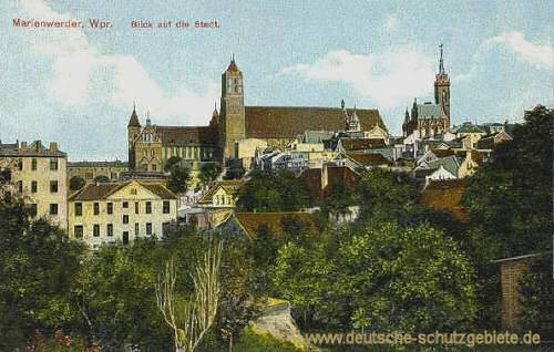 Marienwerder (Wpr.), Blick auf die Stadt