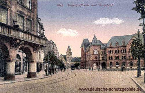 Metz, Bahnhofstraße und Hauptpost