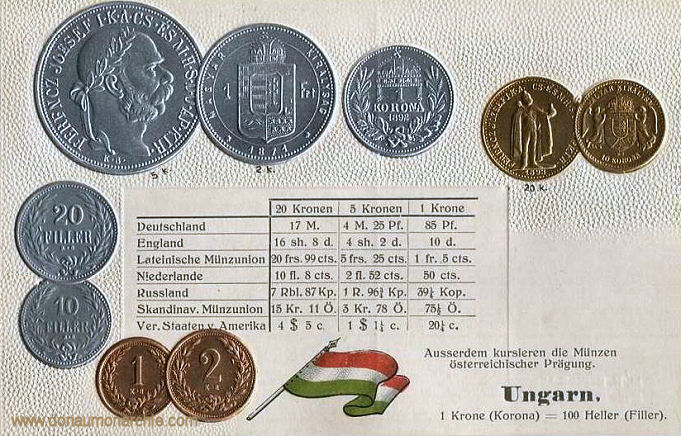 Ungarn, Münzen um 1900