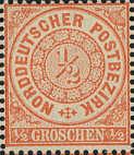 Norddeutscher Postbezirk, 1/2 Groschen