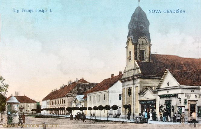 Neu-Gradiska (Nova Gradiška), Trg Franje Josipa I. (Franz-Josef Platz)