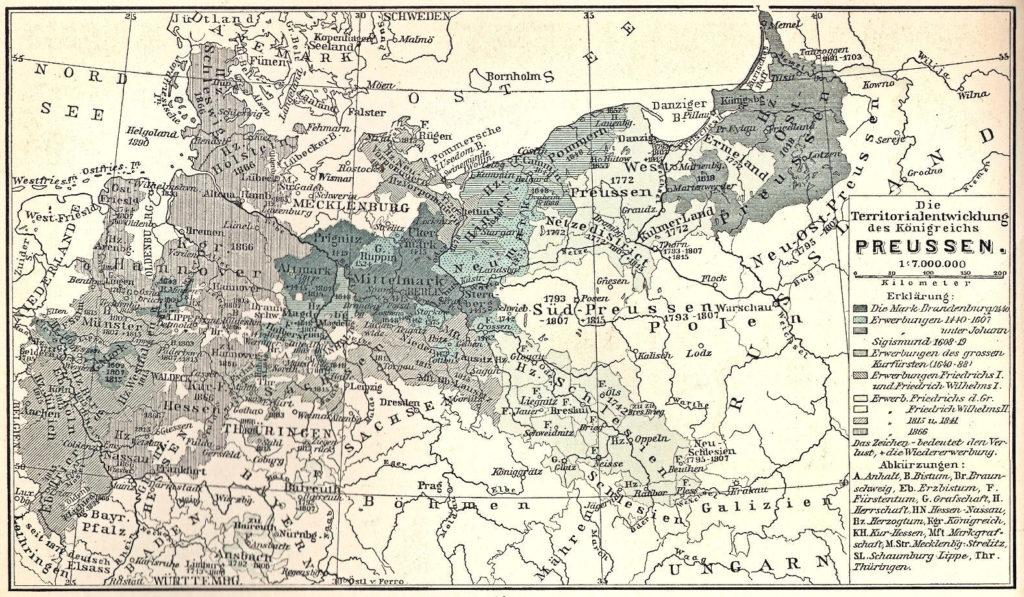 Die Territorialentwicklung des Königreichs Preussen