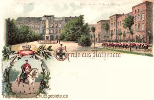 Rathenow, Kaserne der Zieten-Husaren und Prinz Friedrich Carl
