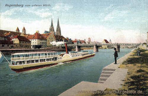 Regensburg vom unteren Wörth