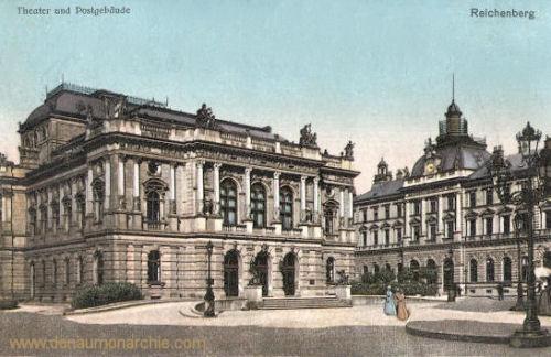 Reichenberg, Theater und Postgebäude