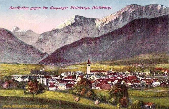 Saalfelden gegen die Leoganger Steinberge (Salzburg)