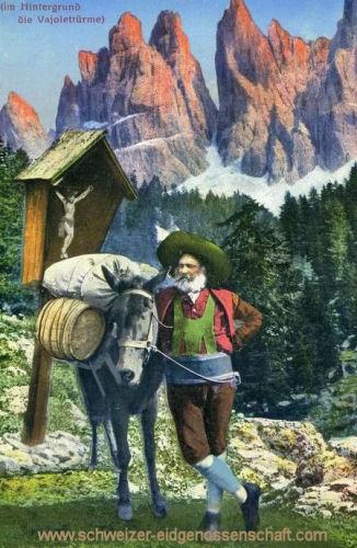 Schweizer Leben, (Im Hintergrund die Vajolettürme)