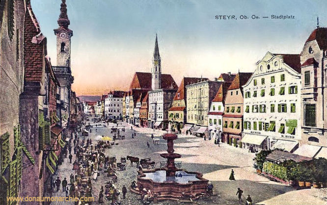 Steyr, Ob. Oe , Stadtplatz