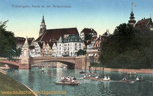 Tübingen, Partie an der Neckarbrücke