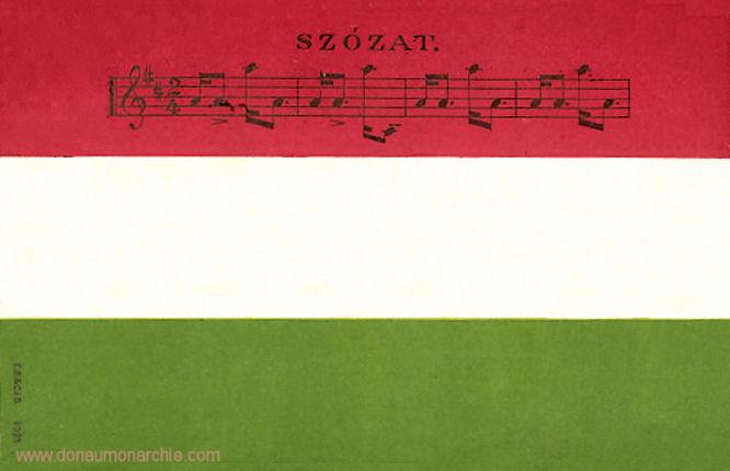Ungarische Fahne - Szózat (Aufruf)