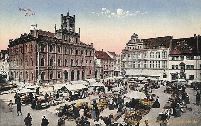 Weimar, Markt und Rathaus