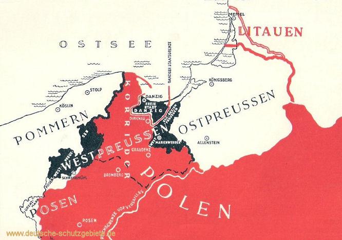 Westpreußen und Ostpreußen 1919