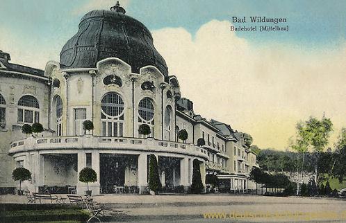Bad Wildungen, Badehotel (Mittelbau)